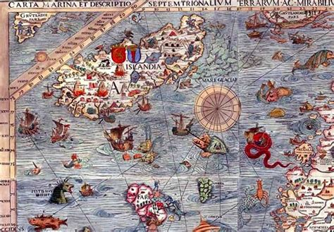 gerobak modern monster icebland 24 best images about sea monsters on vintage maps on