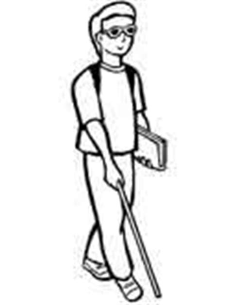 Blind Cane Color Special Needs Coloring Pages