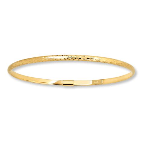 jared bangle bracelet 10k yellow gold