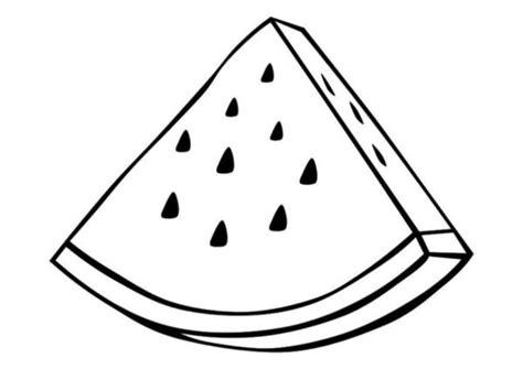 gambar sketsa mewarnai buah semangka mewarnai gambar