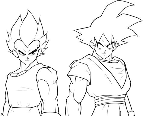 Coloring Page Goku by Goku Coloring Pages To Print Az Coloring Pages