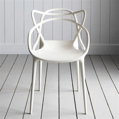 Chaise De Bar Blanche 444 by White Philippe Starck Masters Chair Contemporain