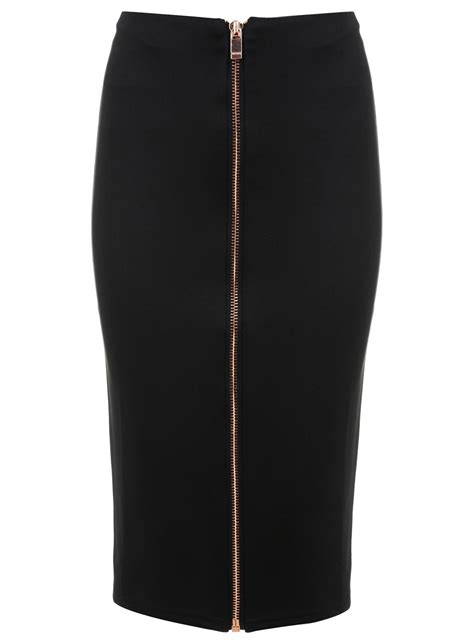 scuba zip pencil skirt miss selfridge