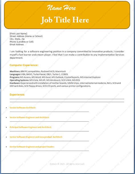 jobresumeweb engineer resume template 2015