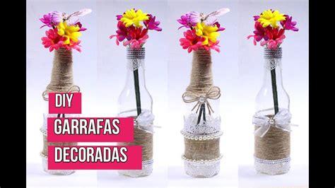 video como decorar garrafas de vidro como decorar garrafas de vidro youtube