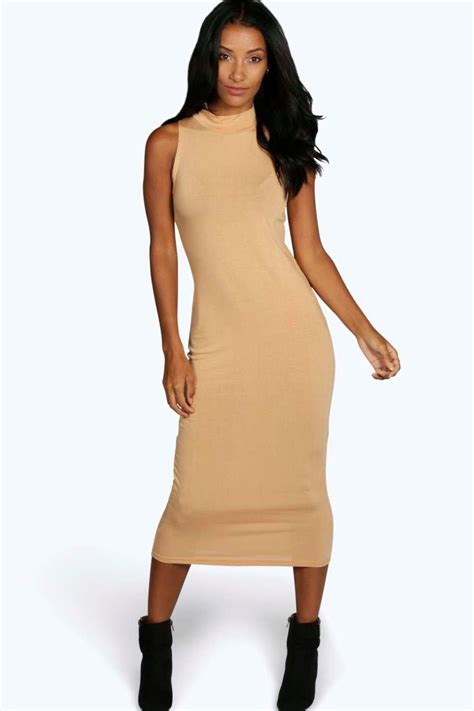 Obralll Turtleneck Bodycon Midi Tl9573 billie turtle neck sleeveless midi bodycon dress