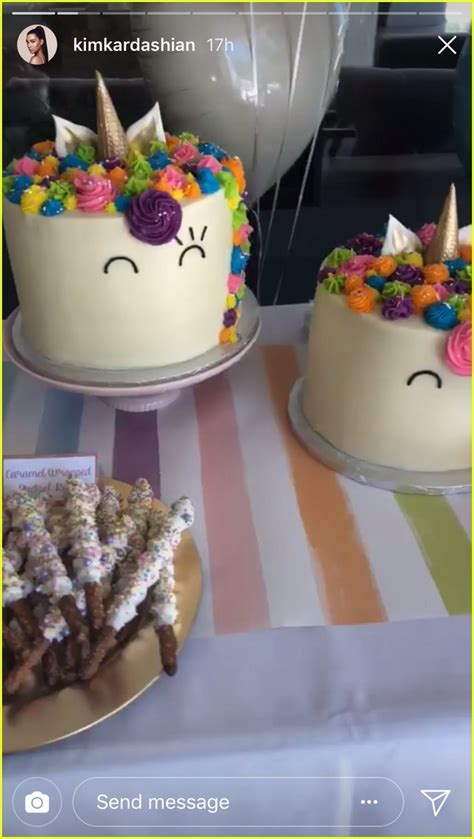 kim kardashian north west birthday party north west penelope disick have unicorn themed birthday