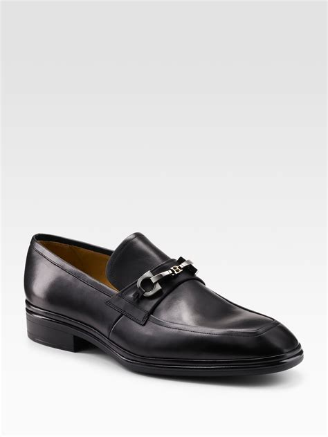 bally loafer lyst bally leather loafers in black for