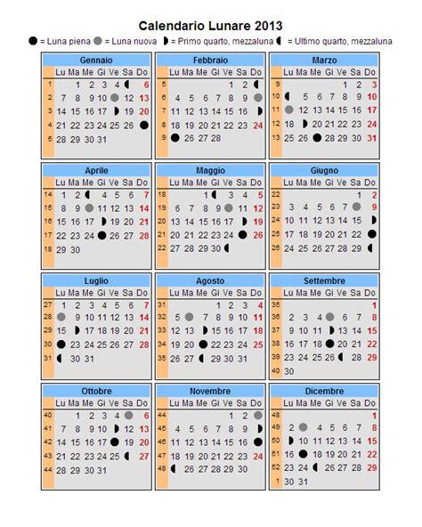 Calendario Lunare Raccolti E Ritrovamenti Calendario Lunare 2013