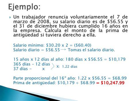 cuanto es el porcentaje de una liquidacion de trabajo calculo de prestaciones y salarios