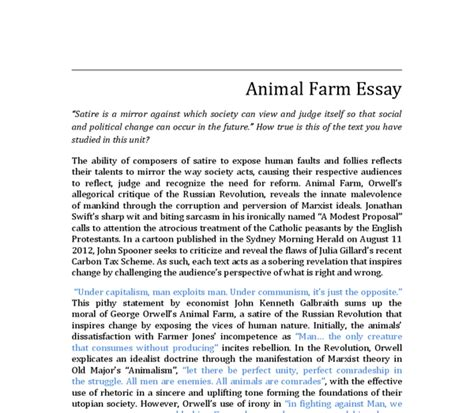 Exles Of Satire Essays by Exles Of A Satire Essay