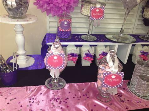 pink and purple buffet