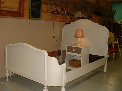 Antique Curved Footboard Bed, It had to be redone, and