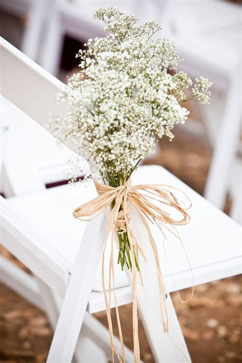 Subtle, yet chic,Baby's breath flowers for ceremony chair
