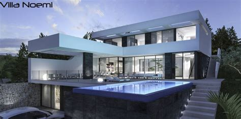luxus villa noemi moderne spanische villa mit pool