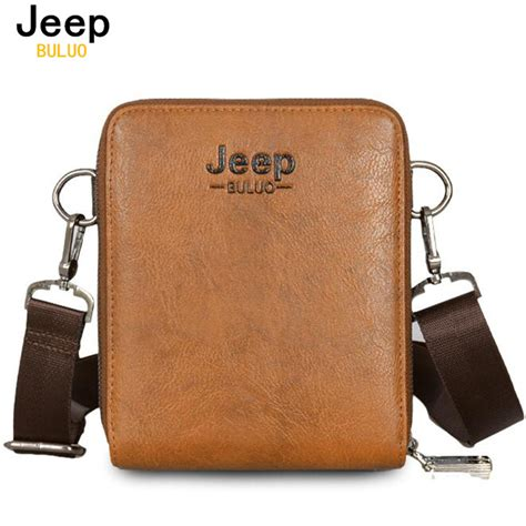 Buluo Jeep Original Brand Messenger Bags High Quality Casual Tas jeep brand bags with phone card holders business travel leather bag for high