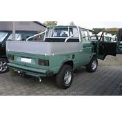 Vw 1985 T3 Pritsche Doka Syncro  The History Of Cars Exotic