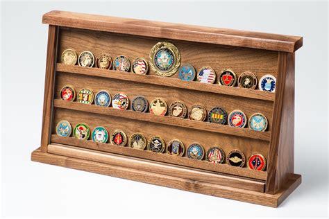 aa coin display large walnut challenge coin displays