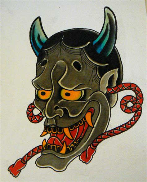 hannya mask tattoo traditional 1000 images about 한야타투 on pinterest