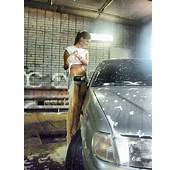 Pretty Girls All Around The World HOT Car Wash Girl