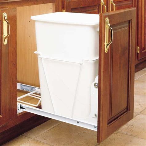 rev a shelf single trash pullout 50 quart white rv 12pb