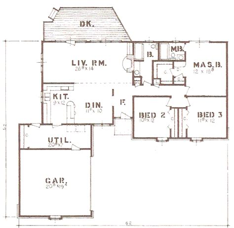 Sq 421 by House Plan 3 Beds 2 Baths 1670 Sq Ft Plan 421 117