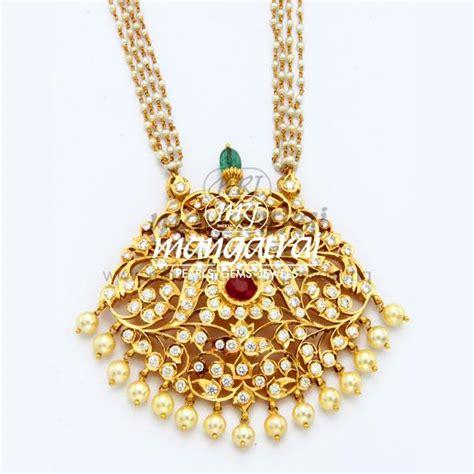 Close Setting Traditional Pendant   Mangatrai Pearls & Jewellers