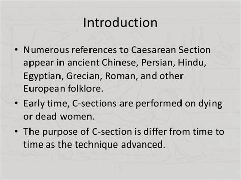 caesarean section origin the brief history of caesarean section