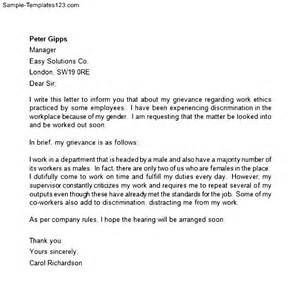 Cover Letter To Employer by Writing A Letter To Employer With Grievance Cover Letter