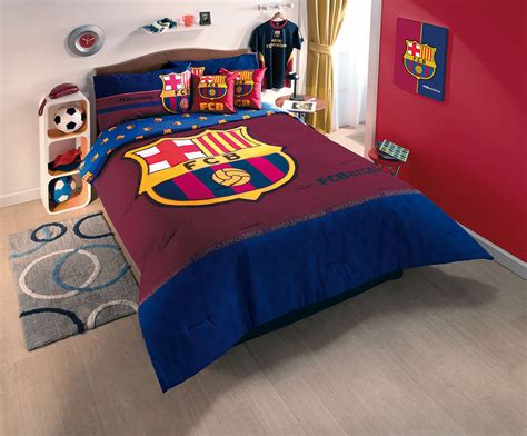 New Fcb Club Barcelona Soccer Comforter Bedding Sheet Set