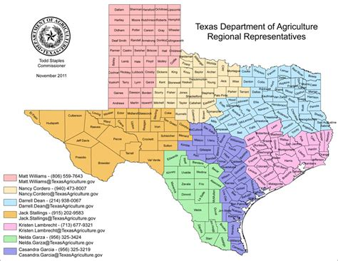 texas crops map regional representatives