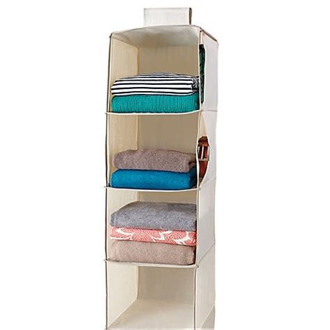 bed bath and beyond organizers real simple 174 6 shelf hanging organizer bed bath beyond