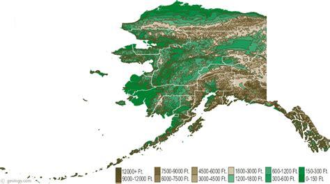 alaska state map map of alaska