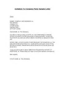 invitation to company party sample letter hashdoc