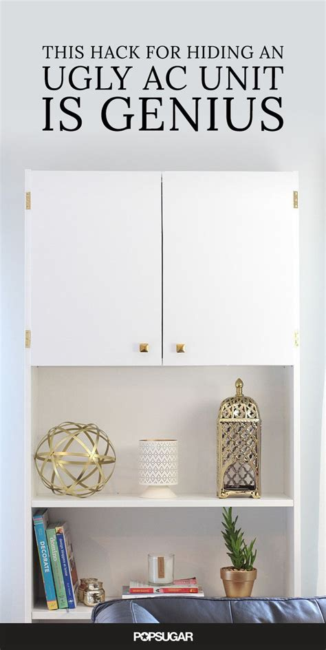 ikea wall unit hack this hack for hiding an ugly ac unit is genius wall unit ac