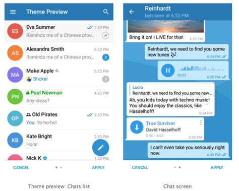 Asus Themes Telegram   telegram chat application announce themes functionality