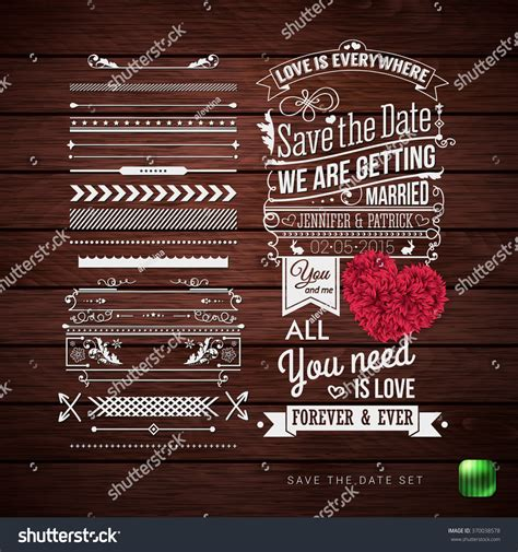 pattern html date save date your personal holiday typography stock vector