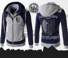 Kaos Scouting Top Brass Singeki No Kyoujin details about new attack on titan survey legion thicken coat jacket hooded sweatshirt hoodie