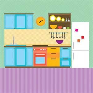 kitchen interior illustration vector free