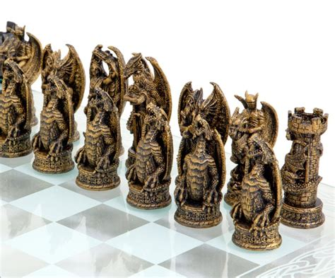 dragon chess set kingdom of the dragon glass chess set my style pinterest