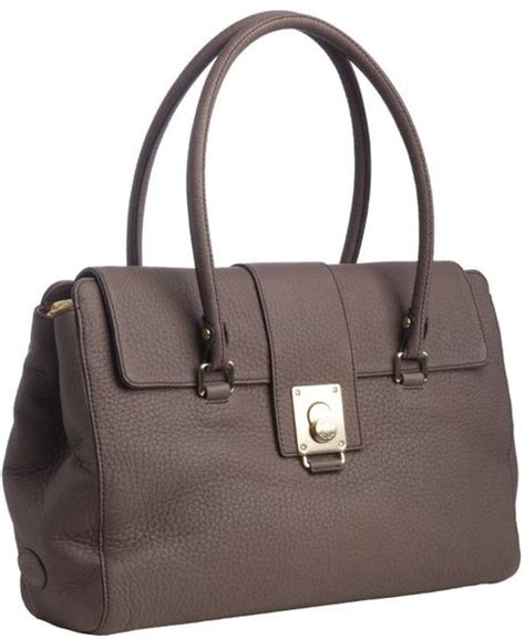 Tods Media Bag by Tod S Seal Brown Leather Fleur Media Shoulder Bag In Brown