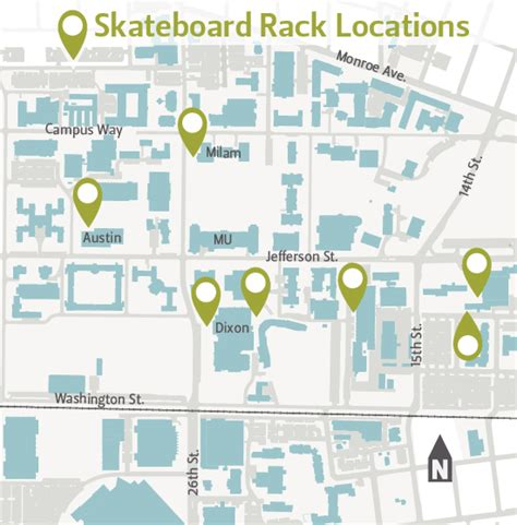 Racks Locations by Skateboarding Finance And Administration Oregon State