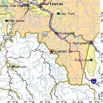 comfort west virginia wv population data races