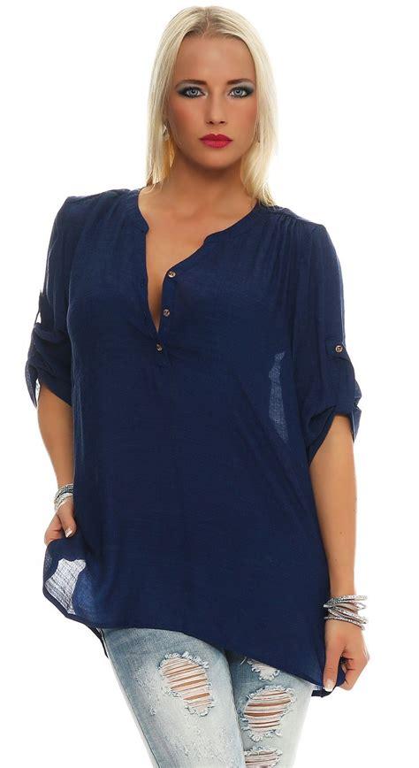 Oversize Hemd Damen by Damen Bluse Tunika Hemd Fischerhemd Kurzarm Baumwolle