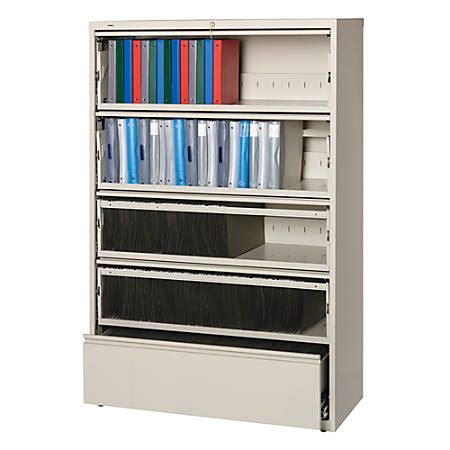 lorell 3 drawer lateral file cabinet lorell fortress series 42w 5 drawer steel lateral file