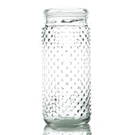 vintage hobnail clear glass jar candle holder