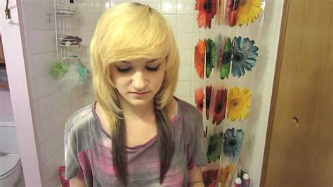 emo hairstyles without fringe how to get perfect scene bangs youtube