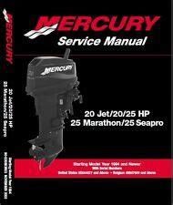 Mercury 25 Hp Manual Ebay