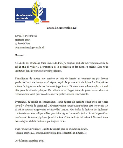 Lettre De Motivation De Gendarme candidature refus 233 e service 1 candidature gendarme