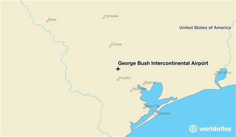 george bush intercontinental airport iah worldatlas